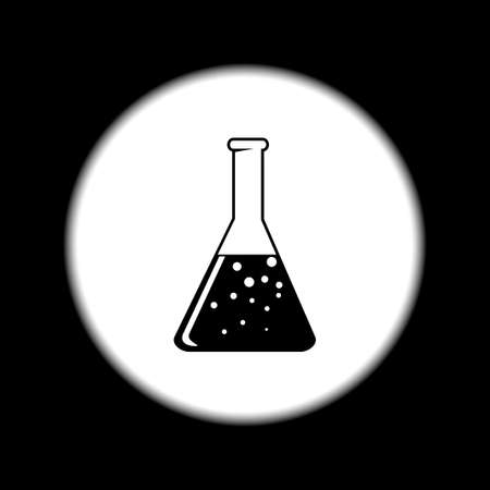 drug discovery: laboratory glass  icon, flat vector illustration. EPS
