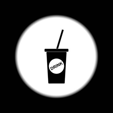 softdrink: paper coffee cup. Flat design style eps 10