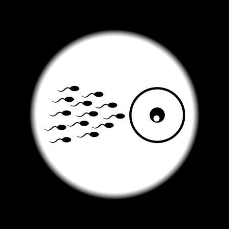 Spermien und Eizellen dünne Linie Symbol für Web und mobile minimalistisch flache Bauweise.
