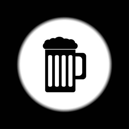 beer foam: Beer mug icon. Flat design style eps 10 Illustration