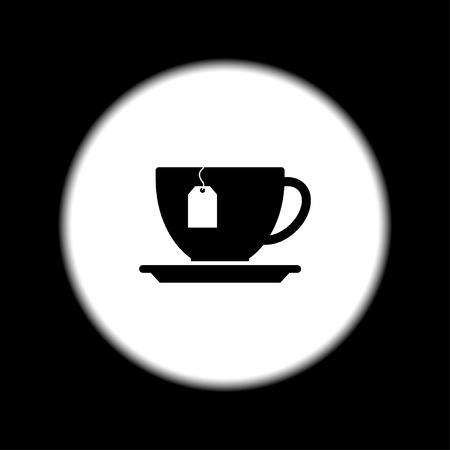 cup with tea bag . Flat design style eps 10