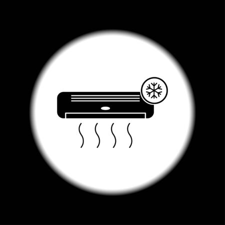 acclimatization: Air conditioner icon. Flat design style eps 10
