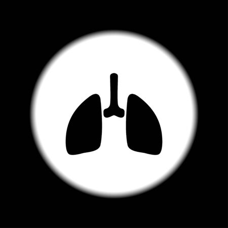 pulmones: lungs icon. Flat design style eps 10