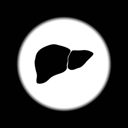 bile: Vector flat liver icon. Flat design style eps 10