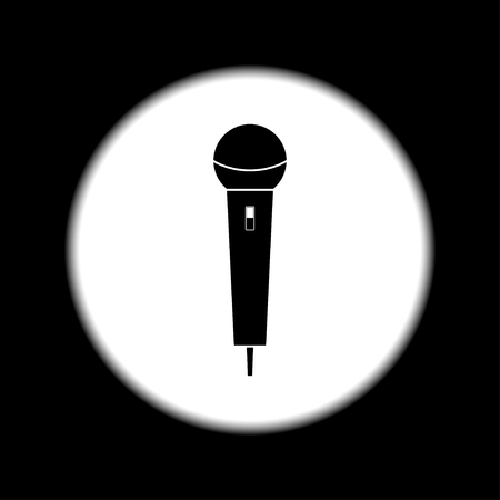 amplification: Microphone Icon. Flat design style eps 10
