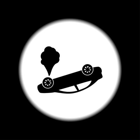Auto-ongeluk concept. Gelaagde vector illustratie. Vlak