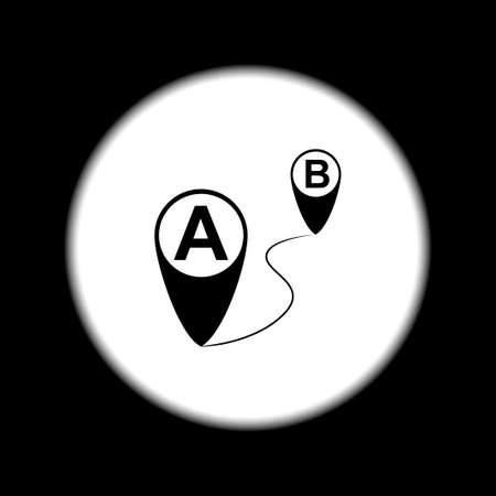 Map pointer flat icon, vector illustration. Flat design style.