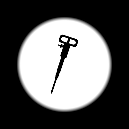 jack tar: Pneumatic hammer drill line icon for web, mobile and infographics. Illustration