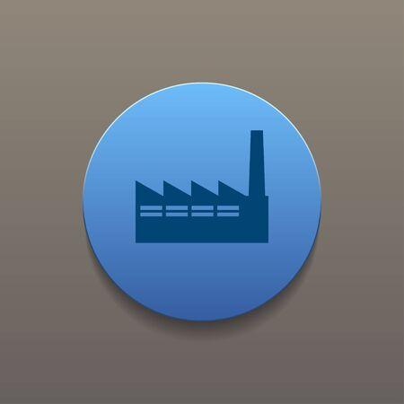 hazardous to the environment: icon of factory. Flat design style eps 10