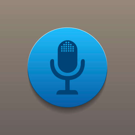 eps vector icon: microphone web icon, flat design vector EPS Illustration