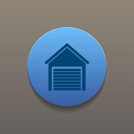 garage: Garage icon. Flat design style eps 10