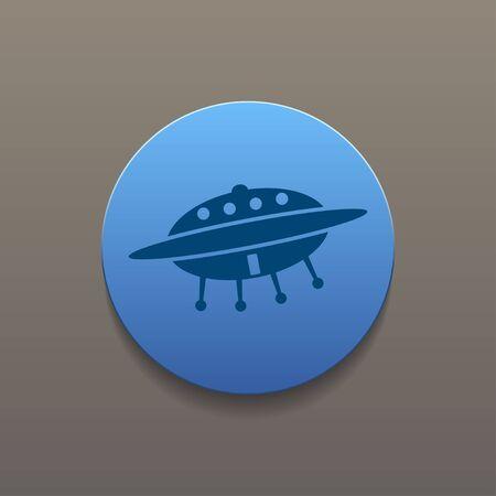 area 51: UFO icon. Flat design style eps 10 Illustration