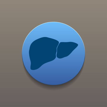 hepatology: Vector flat liver icon. Flat design style eps 10