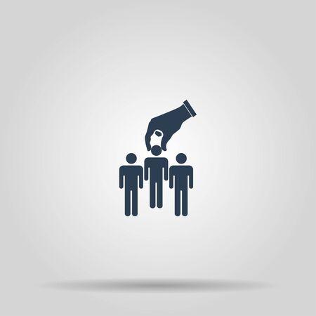 Select of good man icon, illustration. Flat design style Vektoros illusztráció