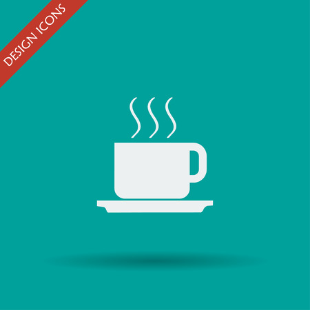 long drink: coffe vector illustration. Flat design style EPS