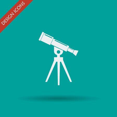 ocular: Telescope icon. Flat design style eps 10 Illustration