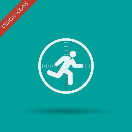 sight: Sight device icon. Flat design style modern vector illustration.