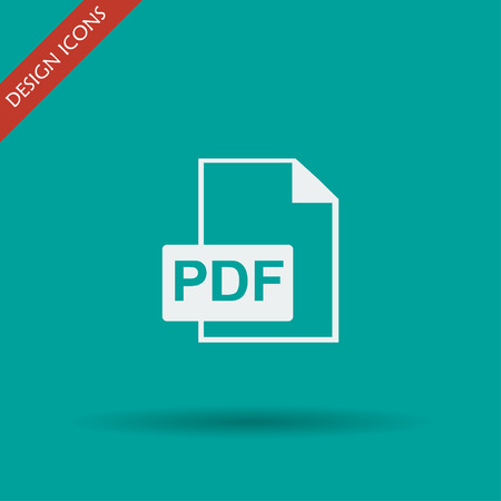 bibliography: PDF icon. Flat design style eps 10