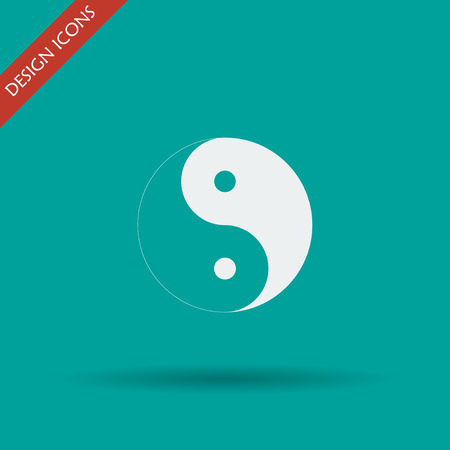 contrasts: Yin Yang Symbol - Black and White Vector Illustration