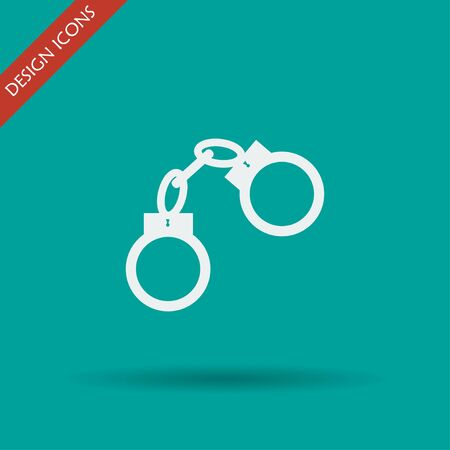 lockup: handcuffs icon. Flat design style eps 10 Illustration