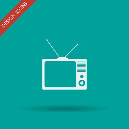 show case: TV vector icon. Flat design style eps 10