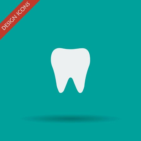 mouth screen: Tooth Icon. Flat design style eps 10