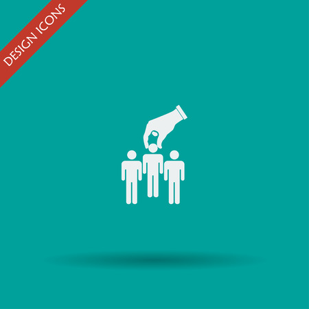select: Select of good man icon, vector illustration. Flat design style