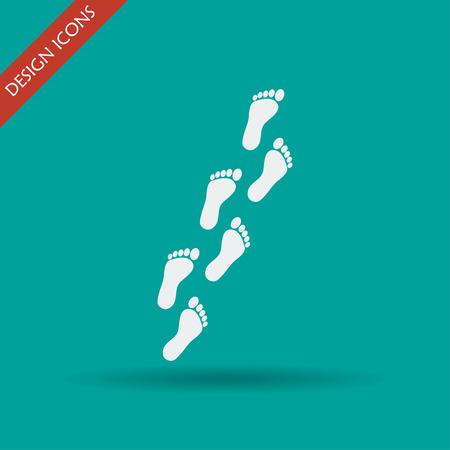 childishly: Feet prints. Flat design style eps 10