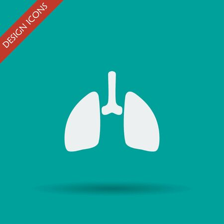 respire: lungs icon. Flat design style eps 10