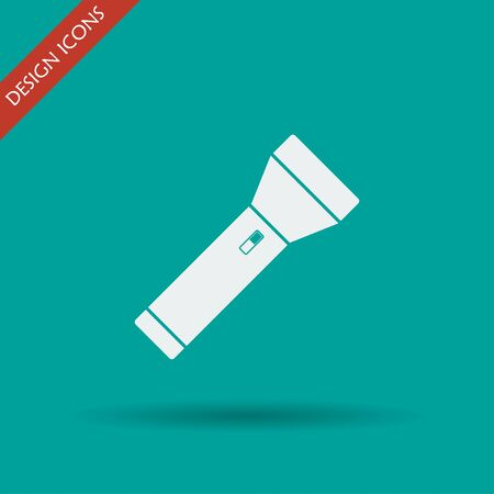 incandescent: flashlight icon. Flat design style eps 10