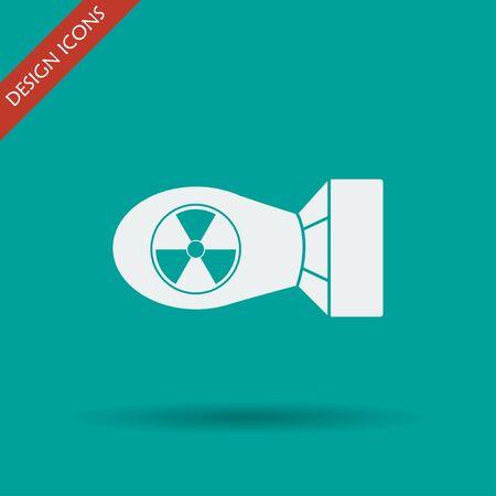 The atomic bomb icon. Flat design style eps 10