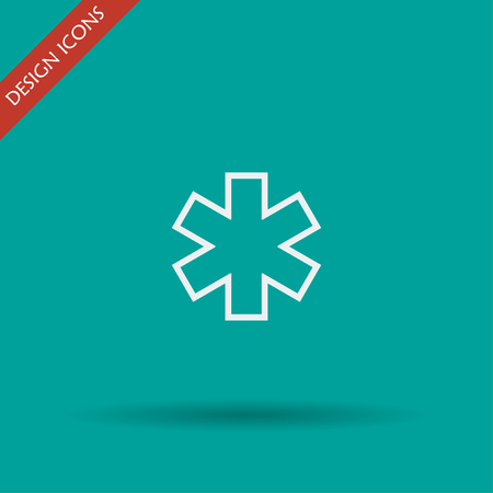 emergency medical: Vector medical icon. Modern design flat style icon