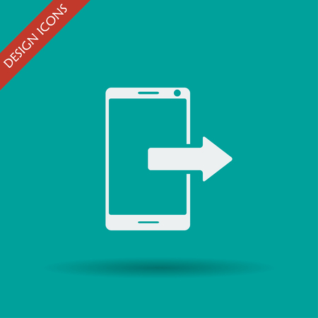 communicator: smartphone icon, Vector  Flat design style  EPS