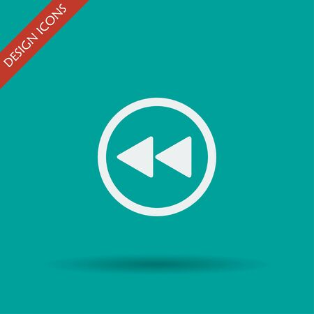 multimedia: Glossy multimedia icon  forward vector EPS flat