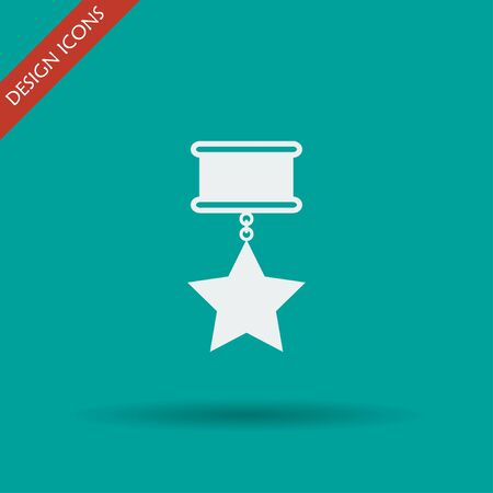 conquering: medal icon. Flat design style EPS 10