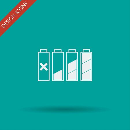 rechargeable: Set of battery charge level indicators. Vector illustration. Illustration