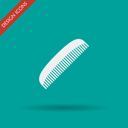 haircutting: comb vector icon. Design style eps 10