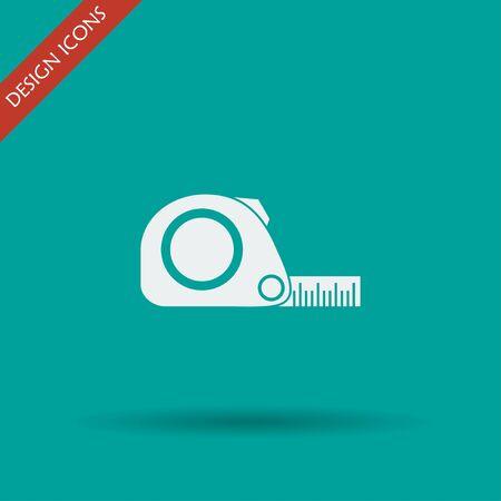 cintas metricas: Icono de la cinta m�trica. Construcci�n simbol ruleta. Apartamento Vectores
