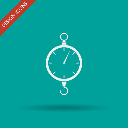 scales icon. Flat vector design style EPS