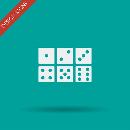 med: dice icon. Flat design style eps 10