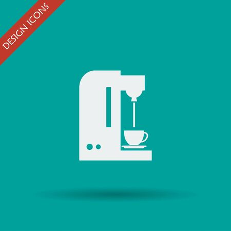 contemporary taste: Coffee maker icon. Flat design style eps 10