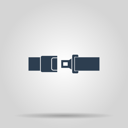safe belt. Modern design flat style EPS