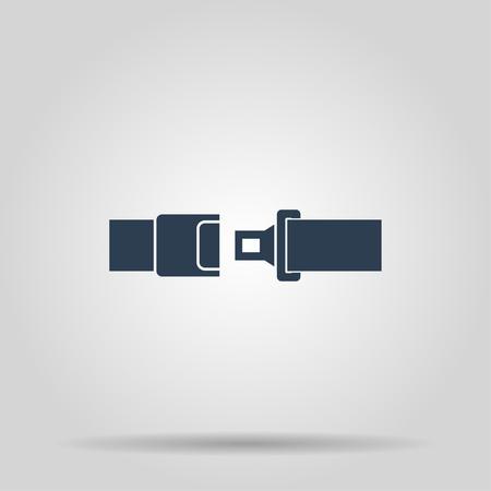 seatbelt: safe belt. Modern design flat style EPS