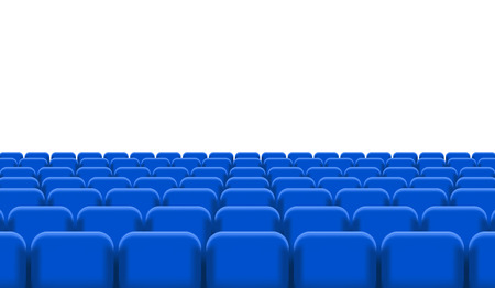 theater seats: Rows of Cinema or Theater Seats. Illustration