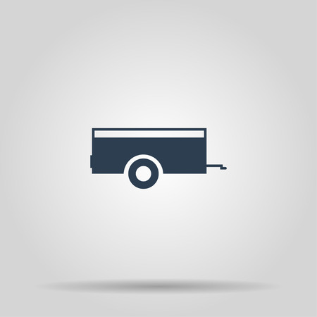 Car trailer Icon. Vector concept illustration for design. Çizim