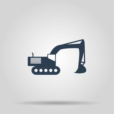 mine site: Excavator icon.