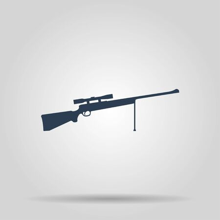 telescopic: Sniper Rifle icon. concept illustration for design.