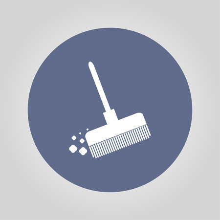 besom: Broom vector icon Flat design style