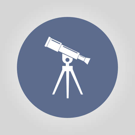 ocular: Telescope icon. Flat design style