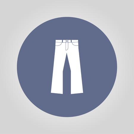 breeches: Pants icon. Vector flat Illustration Illustration